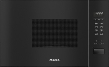 MIELE M 2230 SC OBSW   Einbau-Mikrowellengerät mit seitlich liegender Sensorbedienung für eine komfortable Handhabung.